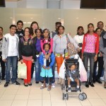Patients and their mothers post-surgery on the way home to Guyana